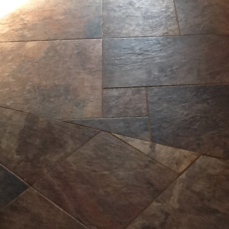 Pinwheel Tile Transition